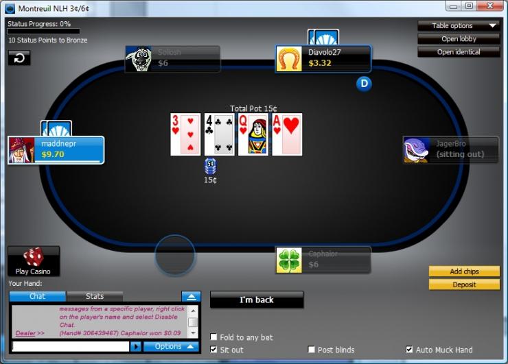 888 poker играть онлайн
