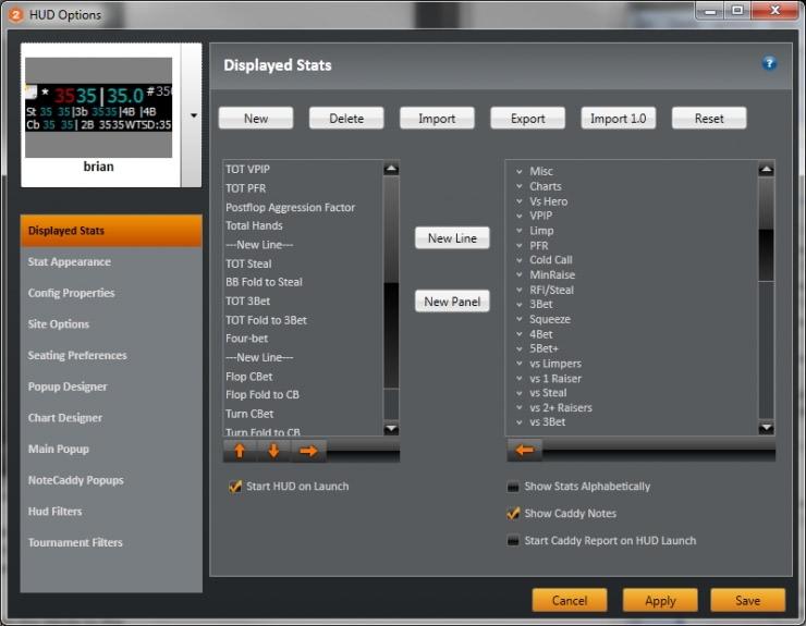 Мощная кастомизация HUD'a в Holdem Manager 2