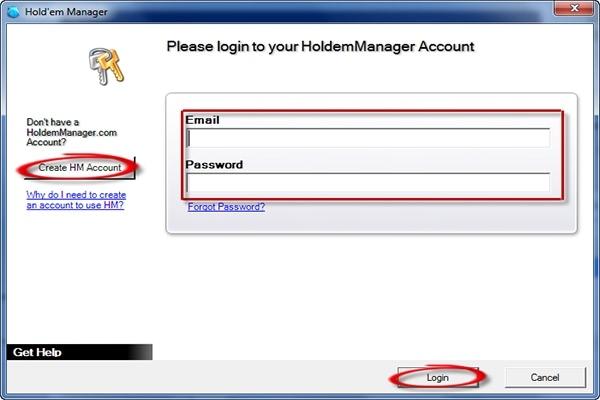 Holdem manager login
