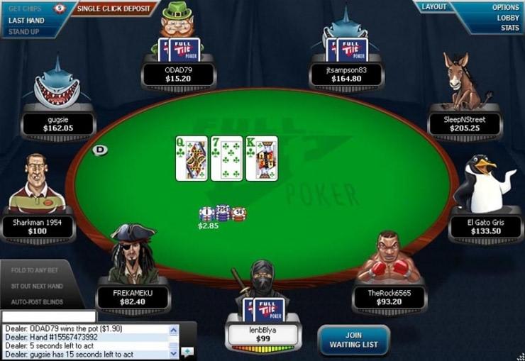 покер онлайн full tilt
