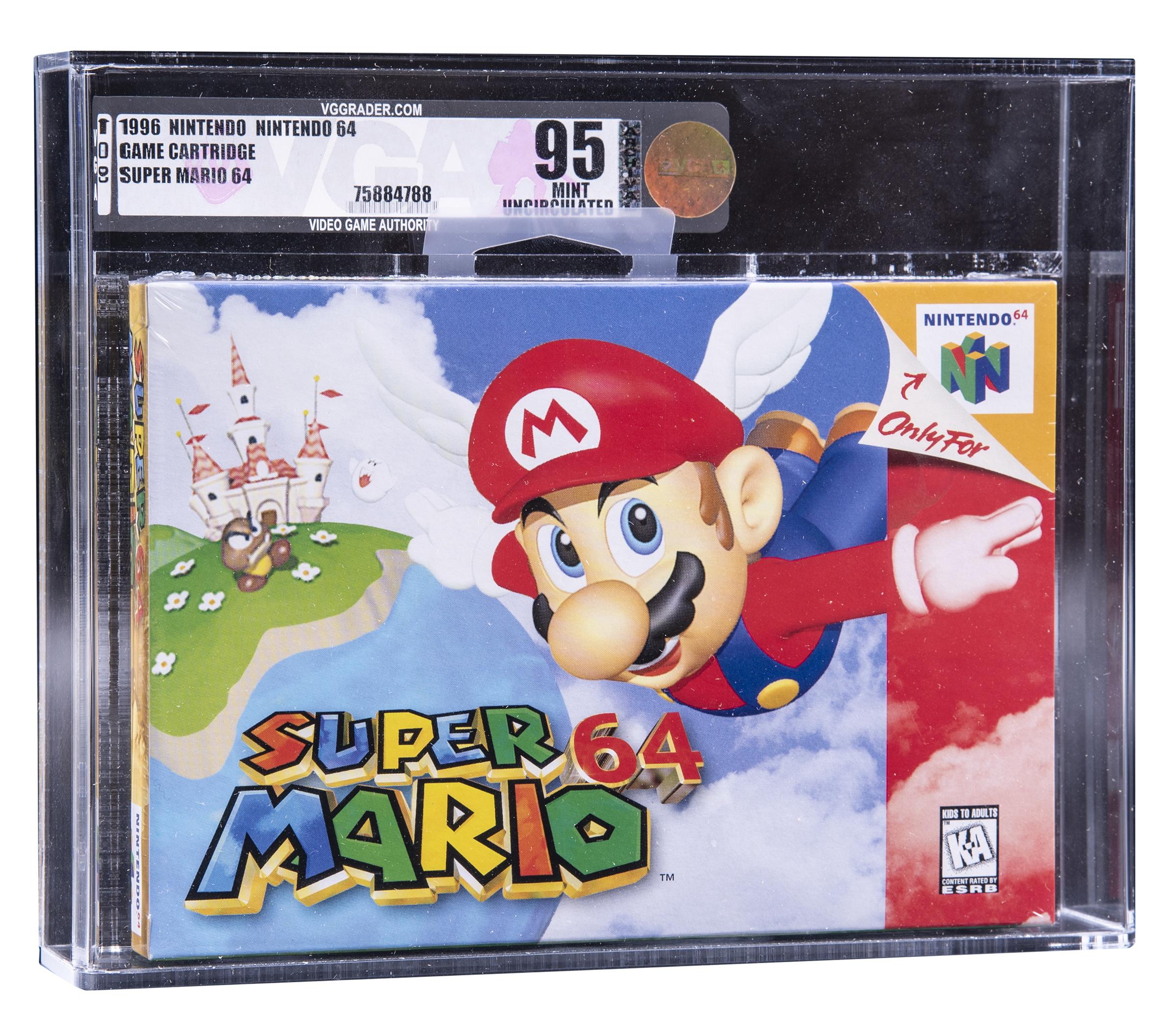 Пример игры из коллекции Шона Диба и Нельсона Лаффи. Super Mario на Nintendo 64 — сейчас коробку продают за $85K