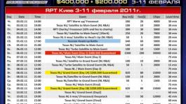 На 888Poker стартовали онлайн-сателлиты на Russian Poker Tour Киев 2011 (3-11 февраля)