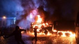 Украинцы против беркута. 20.01.2014 Киев