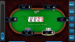 Вот так выглядит Full Tilt Rush Poker на планшете