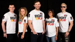 Профессионалы Team PokerStars Pro слева направо: Джейк Коди, Фатима Морейра де Мело, Евгений Качалов, Лео Маргетс, Бертран Гроспелье