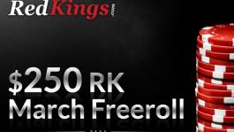 Фриролл на RedKings 18 марта