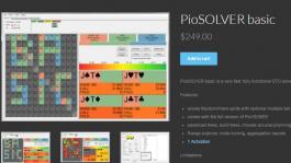 Базовая версия PioSolver может проводить вычисления на постфлопе. Чтобы иметь возможность делать префлоп вычисления нужно доплатить до более дорогих версий