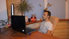 Михаил Сёмин за работой