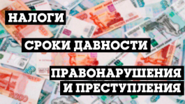 Какой срок давности за неуплату налогов в России?