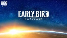 Акция «Early Bird Rakeback» — рейкбек 10% для МТТ