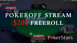 15 приватных фрироллов Pokeroff Stream $200 на PokerStars по воскресеньям