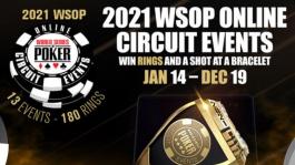 WSOP Circuit будет проходить весь 2021 год онлайн
