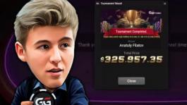 Анатолий Филатов победил в $10K Super MILLION$ на GGПОКЕРОК ($326K)