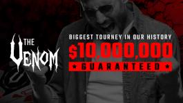 The Venom с гарантией $10M пройдёт на PokerKing с 23 июля