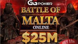 Battle Of Malta с гарантией $25M пройдёт на GGПОКЕРОК с 11 по 25 июля