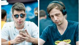 Никита «Ebaaa11» Кузнецов и Алексей «Fiat» Вандышев на финальном столе $5K WSOP Main Event 2021